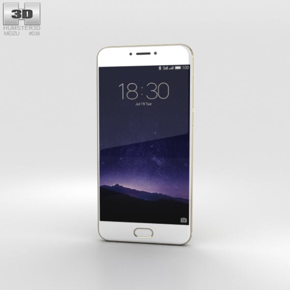 Meizu MX6 Champagne Gold - 3DOcean Item for Sale