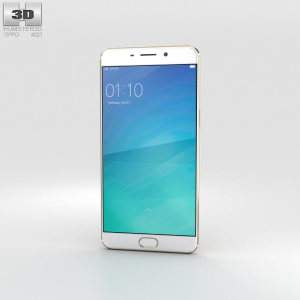 Oppo F1 Plus Gold - 3DOcean Item for Sale
