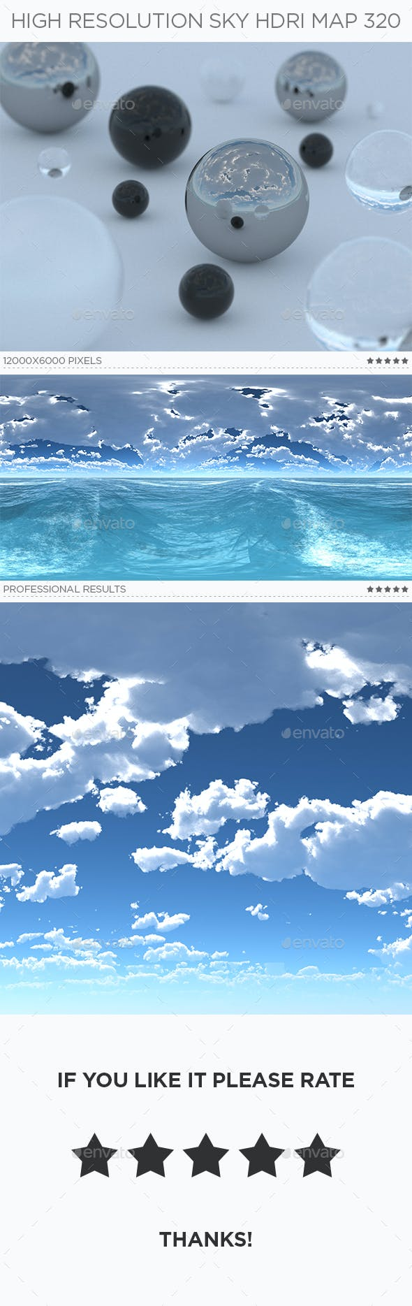 High Resolution Sky HDRi Map 320 - 3DOcean Item for Sale
