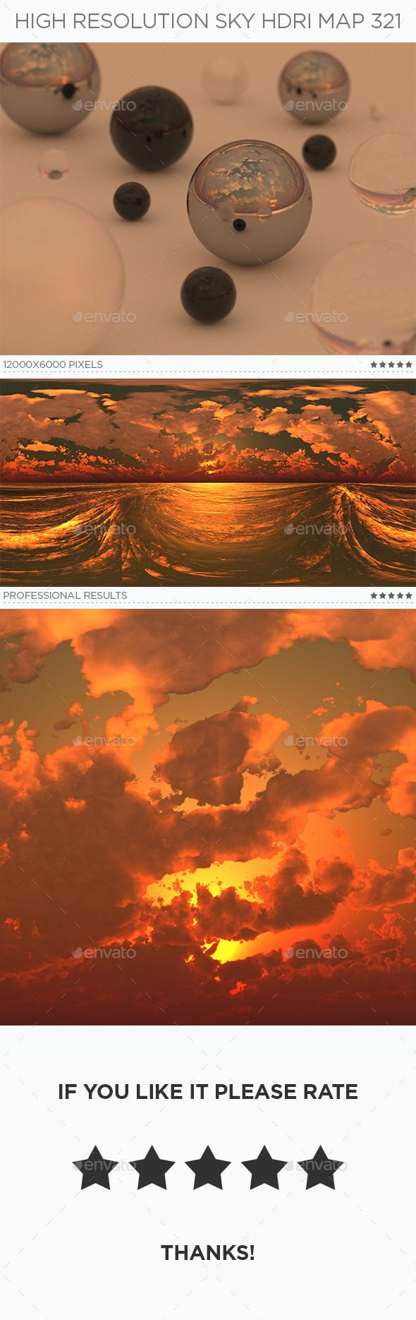 High Resolution Sky HDRi Map 321 - 3DOcean Item for Sale