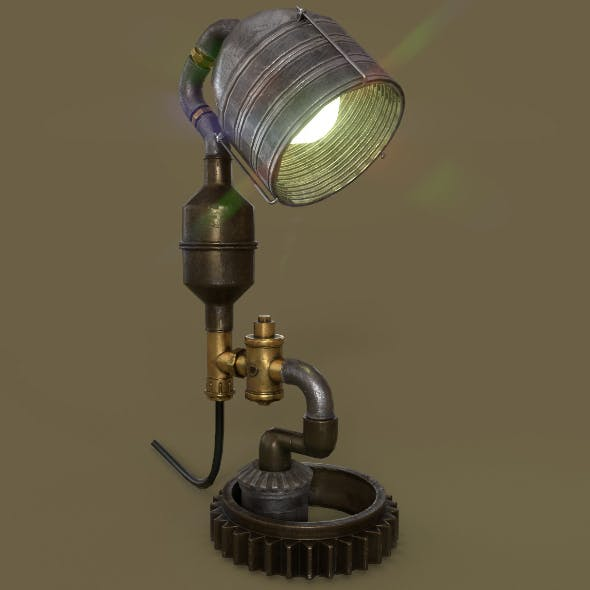 Steampunk Lamp - 3DOcean Item for Sale
