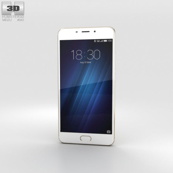 Meizu M3E Gold - 3DOcean Item for Sale