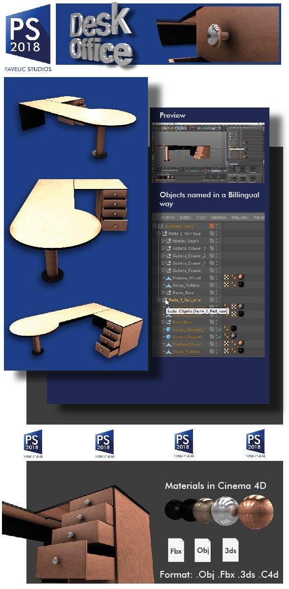 Desk Office - 3DOcean Item for Sale