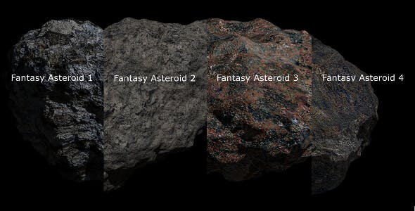 Fantasy Asteroid Collection - 3DOcean Item for Sale