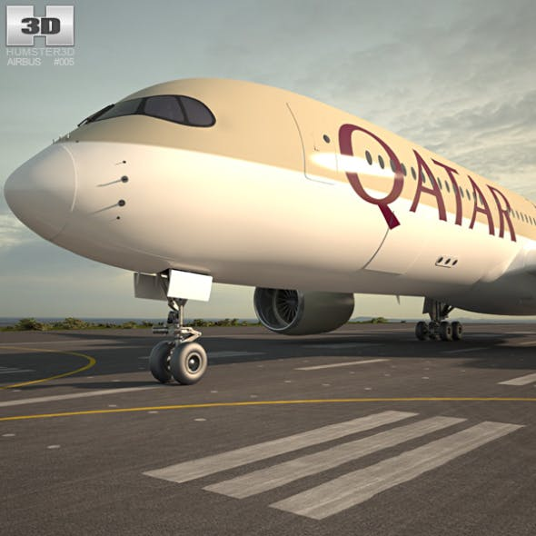 Airbus A350-900 - 3DOcean Item for Sale