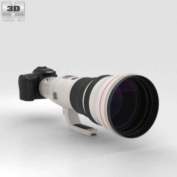 Canon EOS 70D with EF 800mm F/5.6L IS USM - 3DOcean Item for Sale