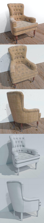 An old armchair - 3DOcean Item for Sale