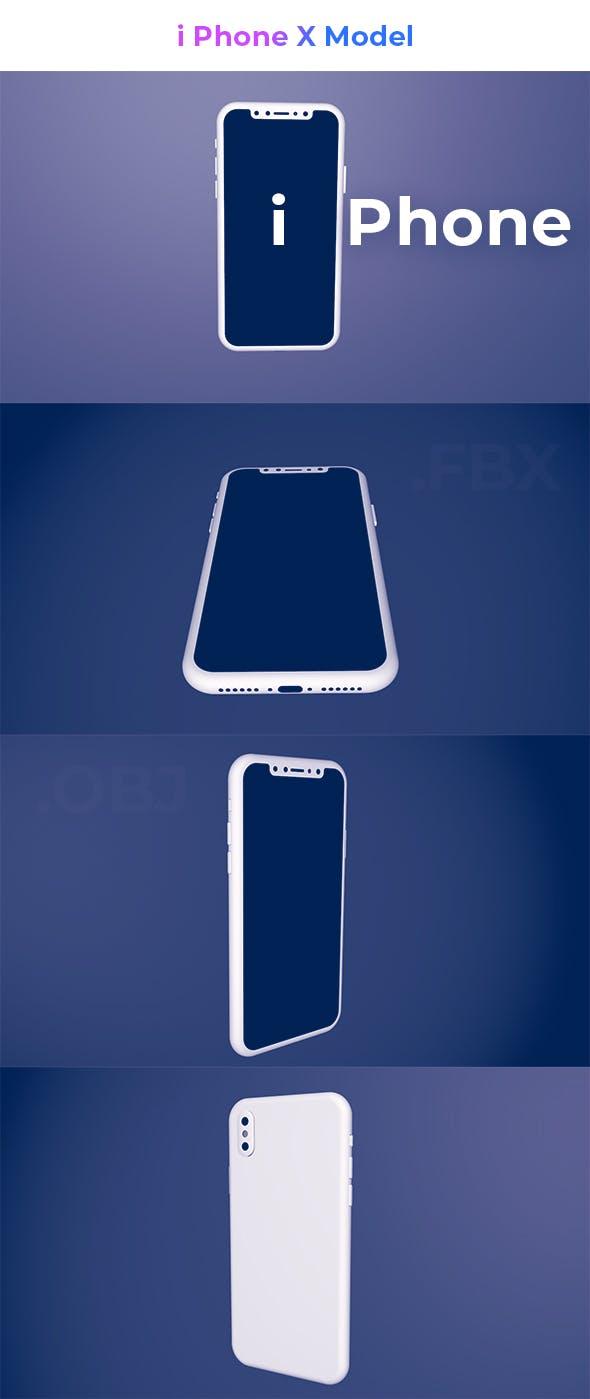 i Phone X 3d Model - 3DOcean Item for Sale