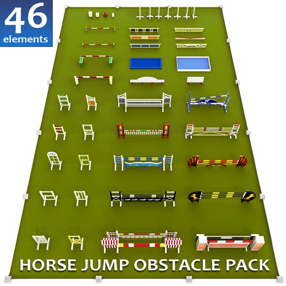 Horse jump obstacle full pack