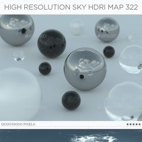 High Resolution Sky HDRi Map 322