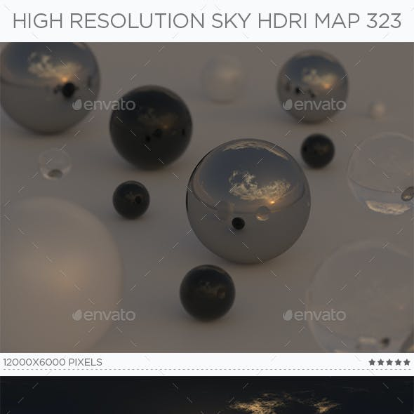 High Resolution Sky HDRi Map 323