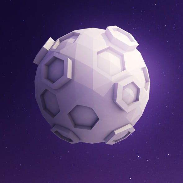Low Poly Moon - 3DOcean Item for Sale