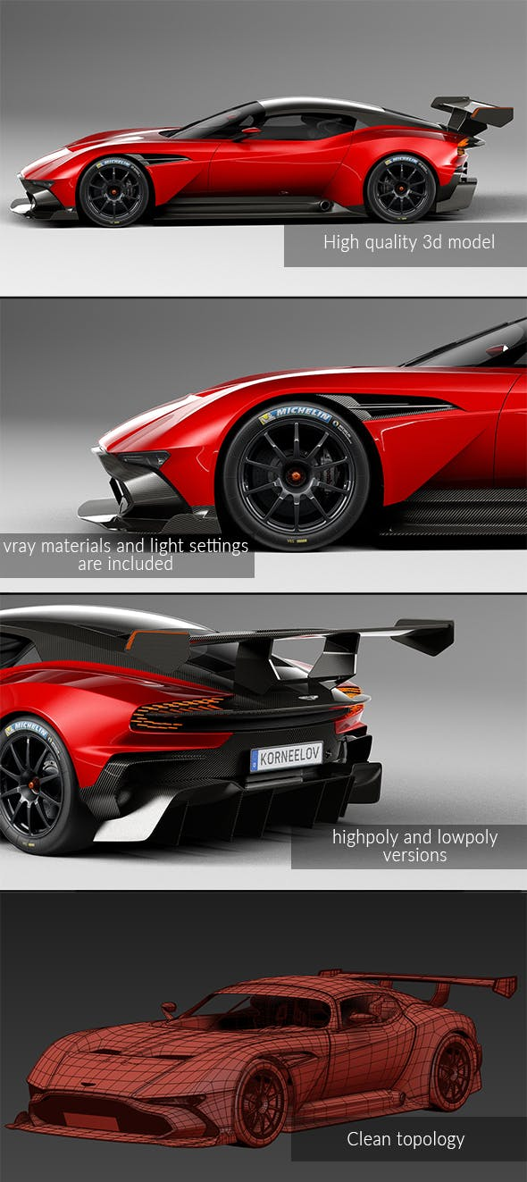 Aston martin Vulcan - 3DOcean Item for Sale