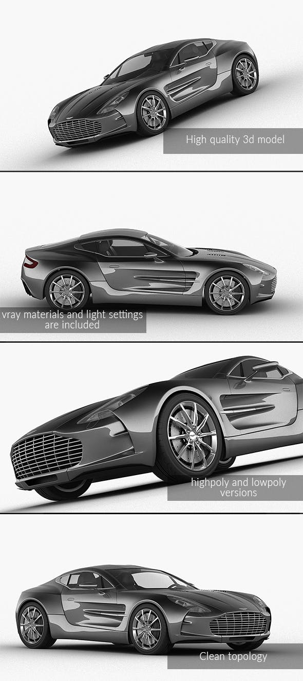 Aston Martin One-77 - 3DOcean Item for Sale