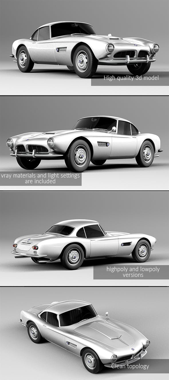 BMW 507 coupe 1959 - 3DOcean Item for Sale