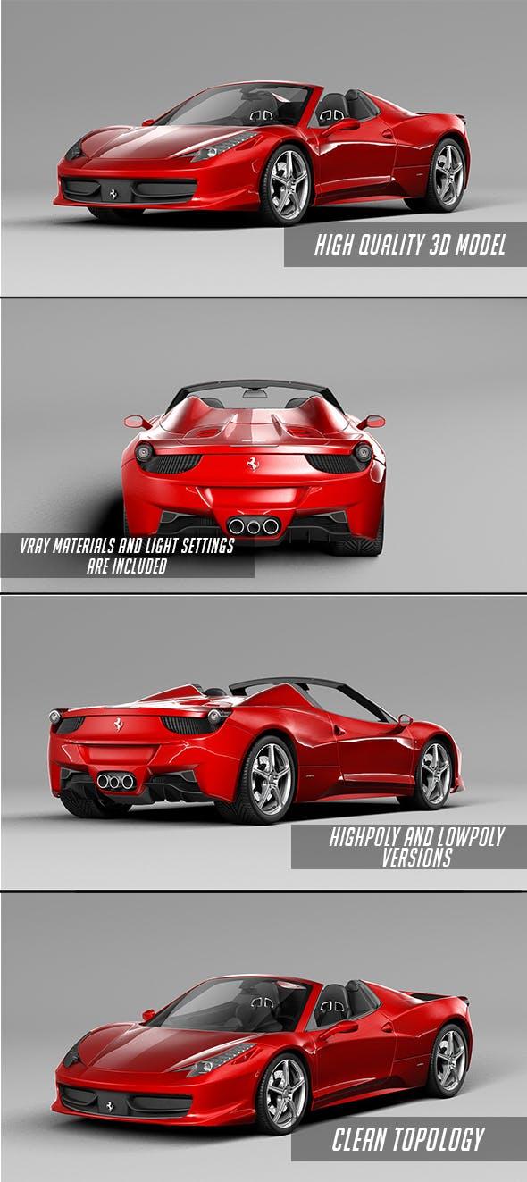 Ferrari 458 italia spyder - 3DOcean Item for Sale