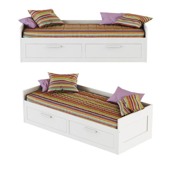 Bed Brimnes Ikea - 3DOcean Item for Sale