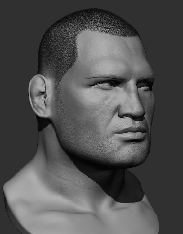 Cain Velasquez head sculpt - 3DOcean Item for Sale