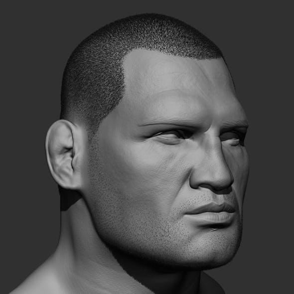 Cain Velasquez head sculpt
