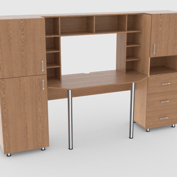 computer desk wall 2