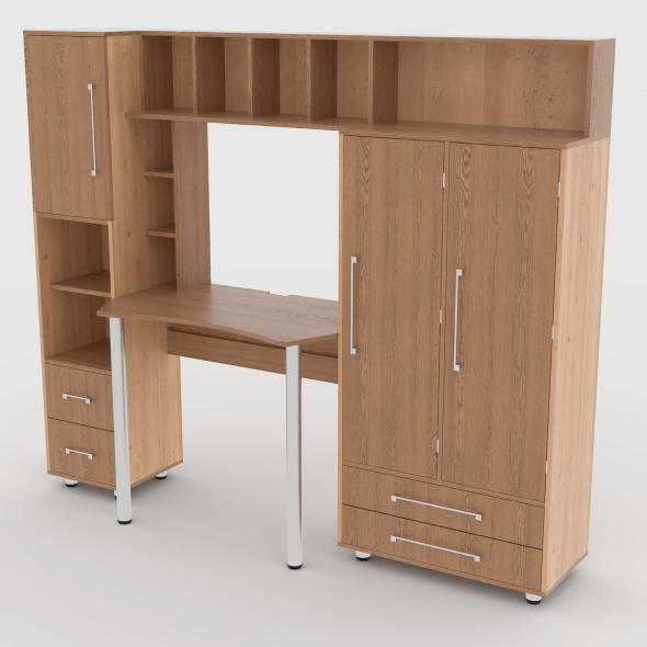 computer desk wall 4