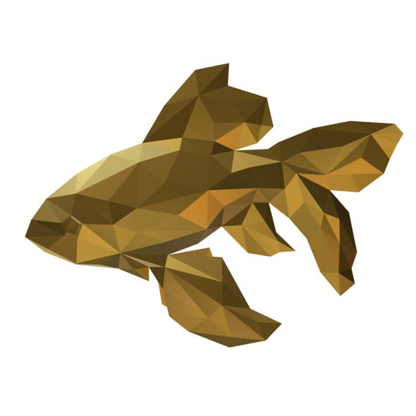 low poly fish figure