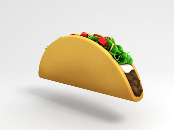Cartoon Taco - 3DOcean Item for Sale