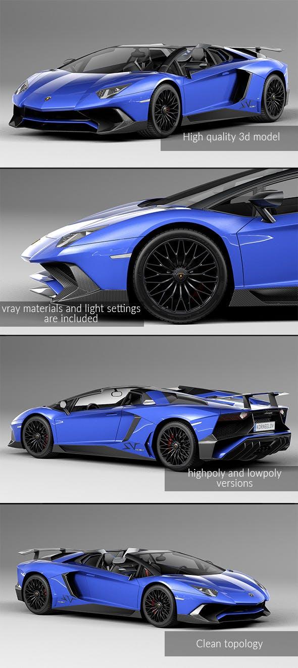 Lamborghini Aventador LP750 SV Roadster - 3DOcean Item for Sale