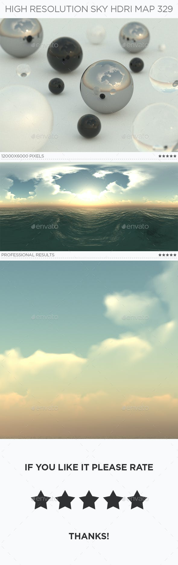 High Resolution Sky HDRi Map 329 - 3DOcean Item for Sale