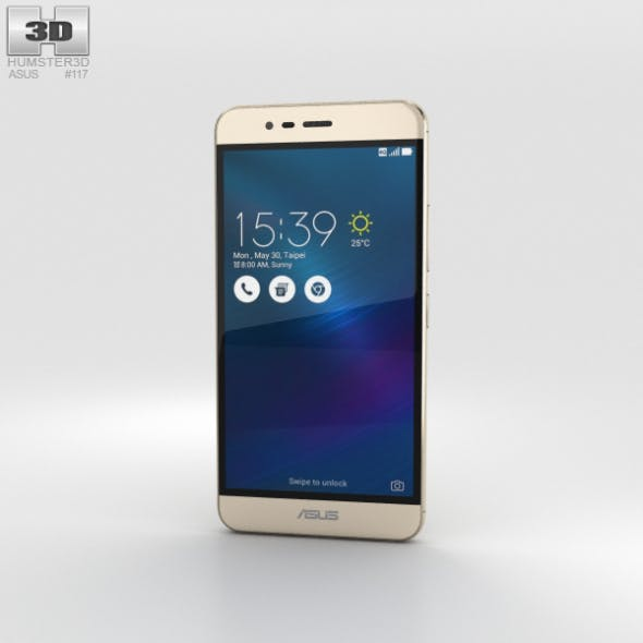 Asus Zenfone 3 Max Sand Gold - 3DOcean Item for Sale