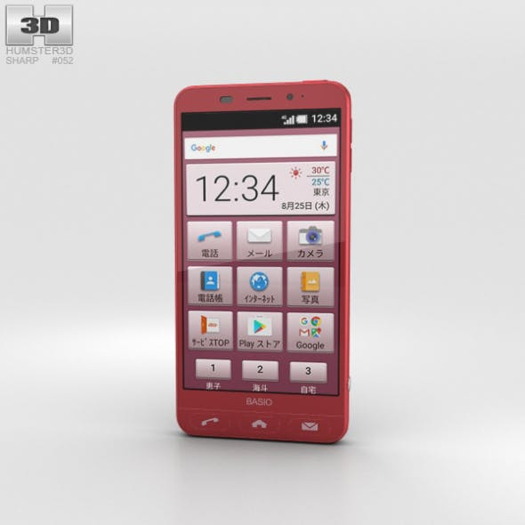 Sharp Basio 2 Red - 3DOcean Item for Sale