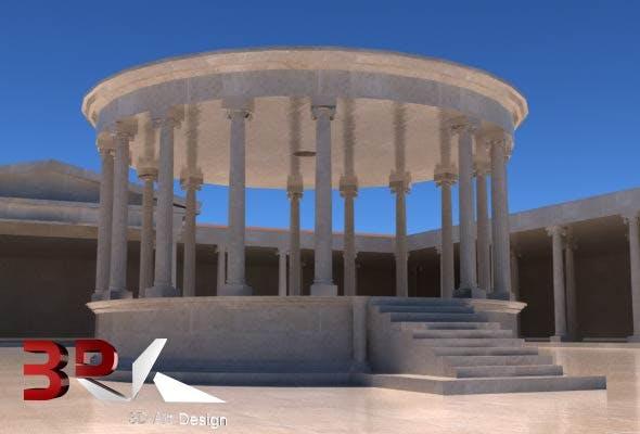 Ancient Rome Macellum - 3DOcean Item for Sale