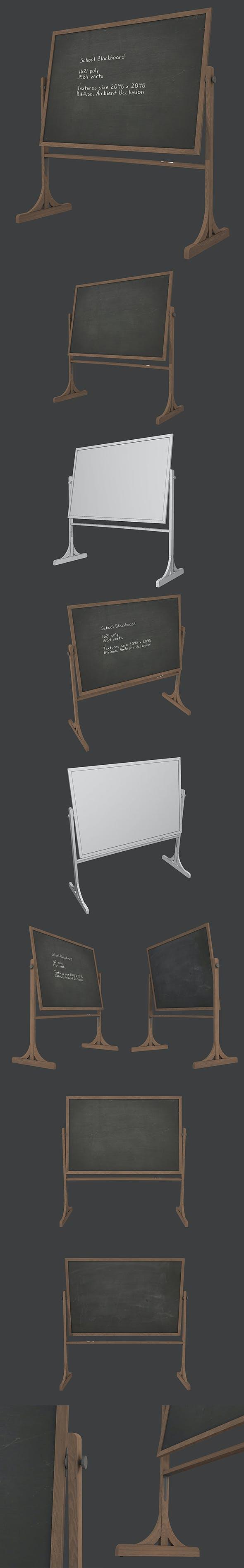 School Blackboard - 3DOcean Item for Sale