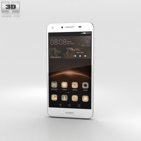 Huawei Y5II Arctic White - 3DOcean Item for Sale