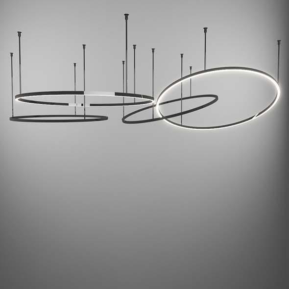 Circular Light Pendant Lamp - 3DOcean Item for Sale