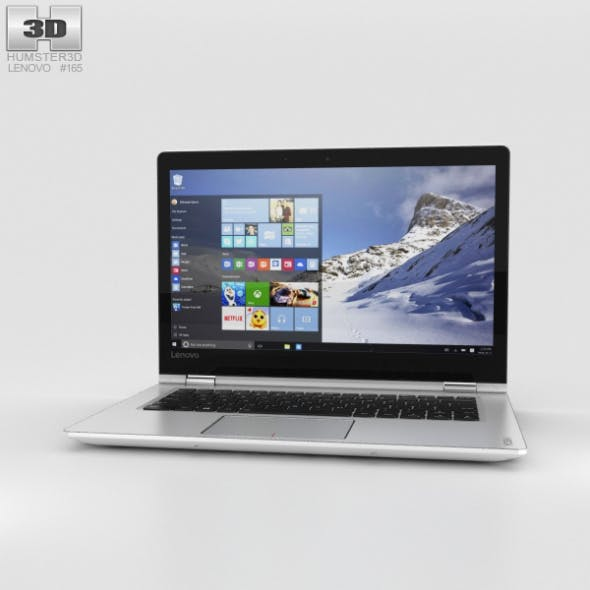 Lenovo Yoga 510 White - 3DOcean Item for Sale