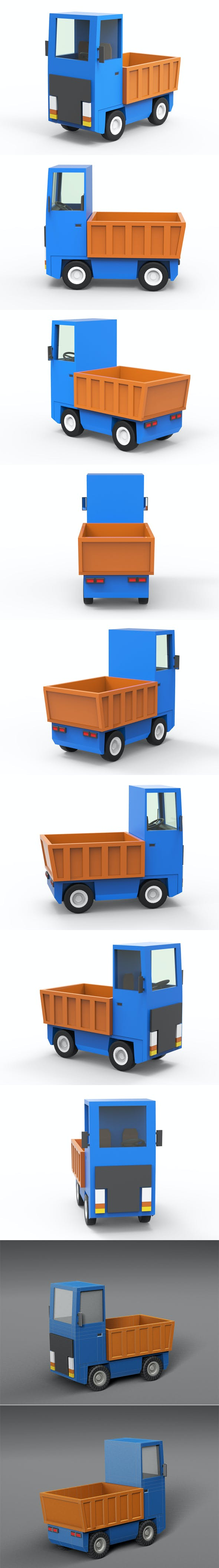 Cartoon freight car - 3DOcean Item for Sale