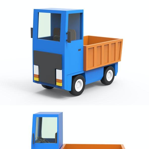 Cartoon freight car