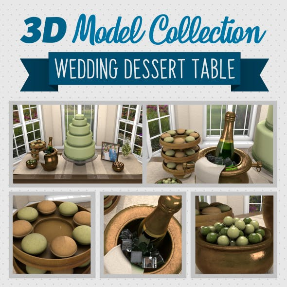 Wedding Dessert Table - 3DOcean Item for Sale