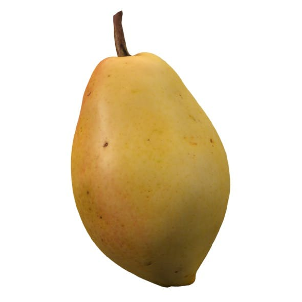 realistic yellow pear 3d model