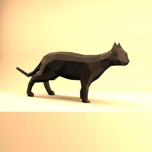 Low Poly Cat
