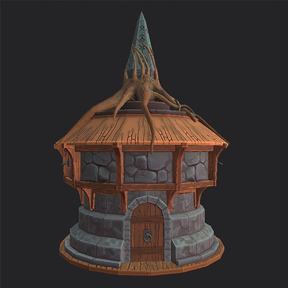Stylized Tree House - 3DOcean Item for Sale