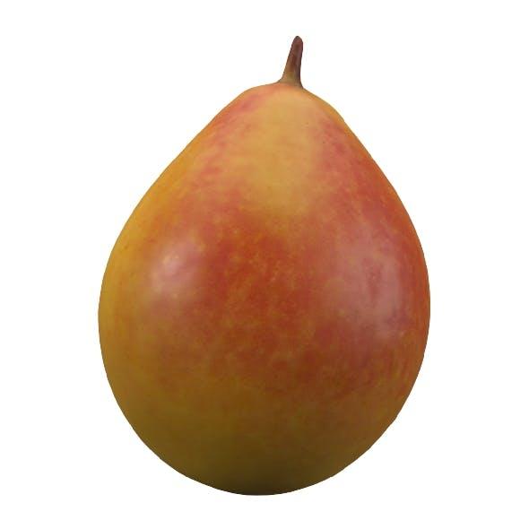 realistic yellow pear 3d model 2