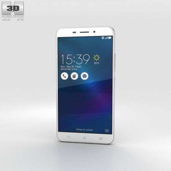 Asus Zenfone 3 Laser Glacier Silver - 3DOcean Item for Sale