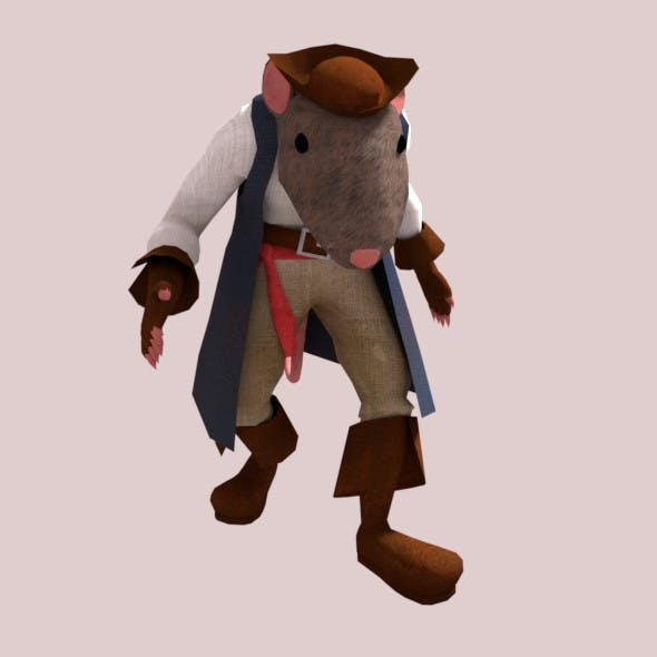 Pirate Capitan Rat - 3DOcean Item for Sale
