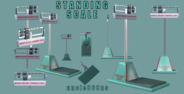 Standing Scales 3d Object - 3DOcean Item for Sale