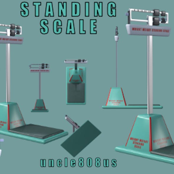 Standing Scales 3d Object