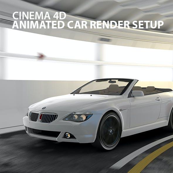 Animated Tunnel Car Render Setup