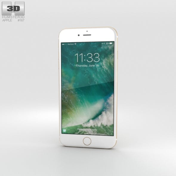 Apple iPhone 7 Plus Gold - 3DOcean Item for Sale