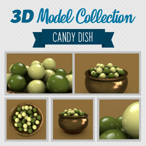 Candy Dish - 3DOcean Item for Sale